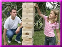 Giant Jenga and other party games for hire in Blackpool, Lancashire and NW England