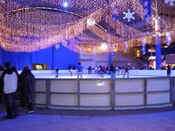 Mobile ice rink for hire in Blackpool, the North West and surrounds