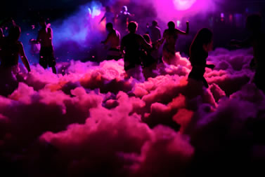 Mobile disco and foam party
